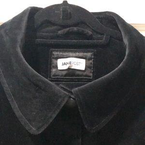 Jane Post black velvet coat.